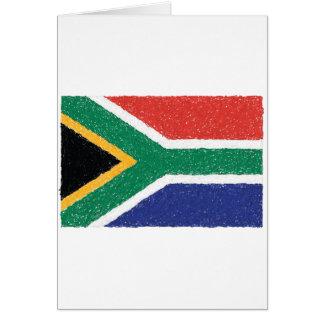 Carte Thème de drapeau de l'Afrique du Sud