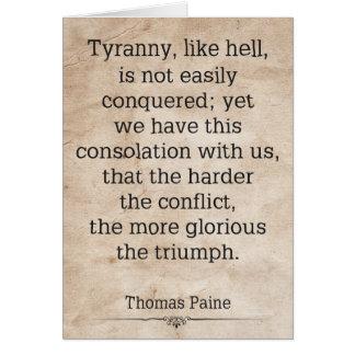 Carte Thomas Paine #1
