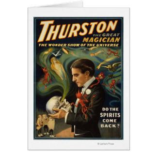 Carte Thurston le grand magicien jugeant le crâne