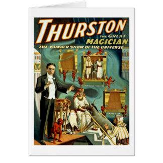 Carte Thurston le magicien - l'exposition de merveille