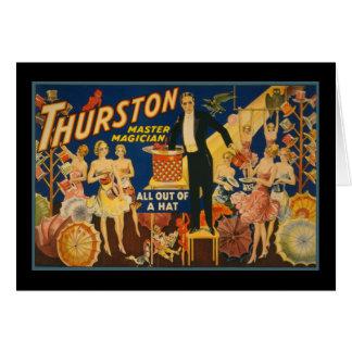 Carte Thurston, magicien principal tout hors d'un