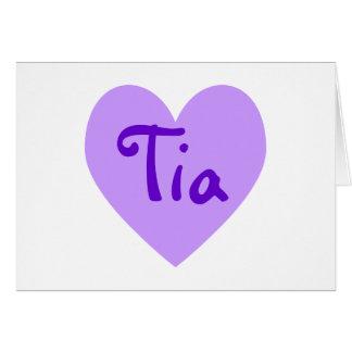 Carte Tia dans le pourpre