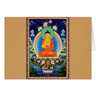 Carte Tibétain Thangka Prabhutaratna Bouddha
