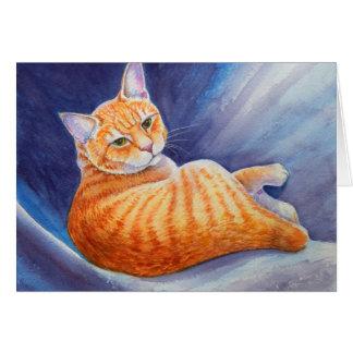 Carte Tigg le chat tigré orange