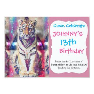Carte Tigre de hippie - art de tigre - tigre de triangle