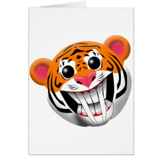 Carte tigre sabre-denté