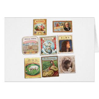 Carte Timbres Cuba Vintage Étiquettes Memorabilia