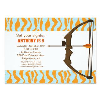 Carte Tir à l'arc avec l'invitation colorée