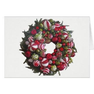 Carte Tis la guirlande gaie de Noël de saison