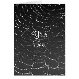 Carte Toile d'araignée de scintillement