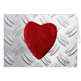 Carte Tôle de cannelure arrière-plan coeur