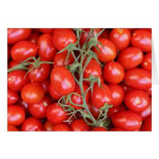 Carte tomate de vigne