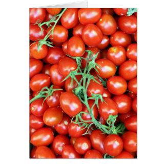 Carte tomates rouges de vigne