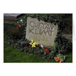 Carte Tombe de Gustav Klimt