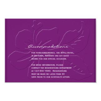 Carte Ton d'aubergine sur l'insertion de mariage de