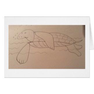 Carte Tortue de mer d'Olly, originale
