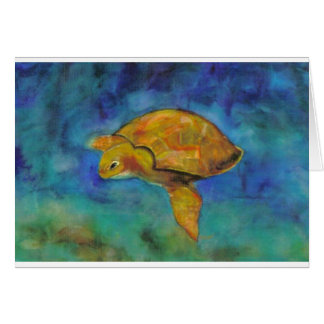 Carte Tortue de mer par Paula Atwell