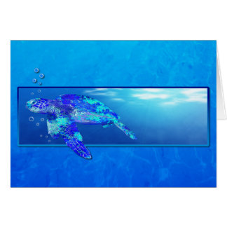 Carte Tortue de mer sous-marine