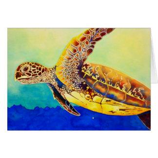 Carte tortue de mer verte