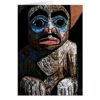Carte Totem avec le masque