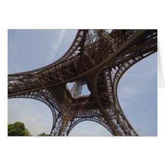 Carte Tour Eiffel à Paris, vue d'angle faible