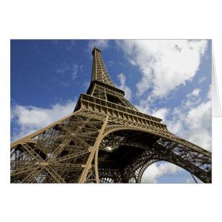 Carte Tour Eiffel d'angle faible