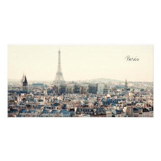 Carte Tour Eiffel et toits de Paris