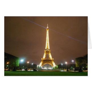 Carte Tour Eiffel Paris France - vacances de printemps