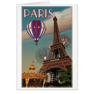 Carte Tour Eiffel vintage