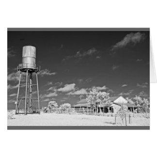 Carte Tour et grange d'eau sur le ranch du Texas