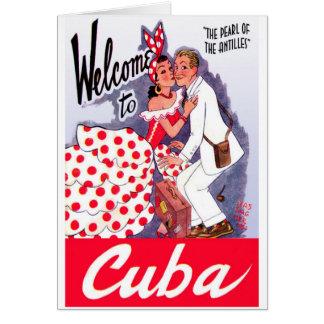Carte Touriste vintage du Cuba