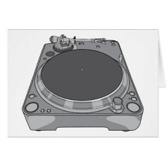 Carte Tourne-disque rétro DJ vintage de phonographe
