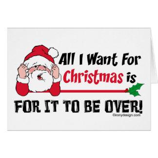 Carte Tous que je veux pour l'humour de Noël