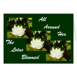 Carte Tout autour de elle Lotus a fleuri