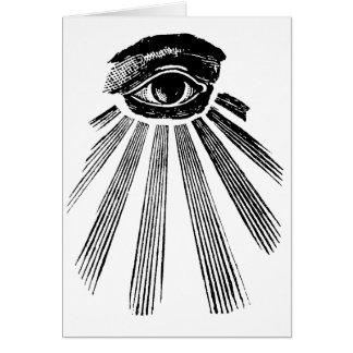 Carte Tout l'ordre mondial voyant d'Illuminati d'oeil