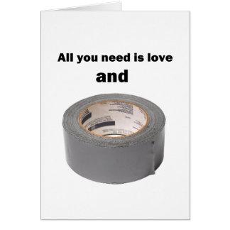 Carte Tout que vous avez besoin est amour et ruban