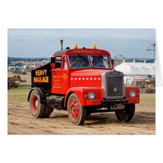 Carte Tracteur 1956 lourd de transport de Scammell