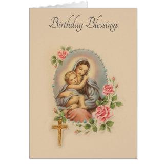 Carte traditionnelle de Vierge Marie de