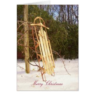 Carte Traîneau 2 de Joyeux Noël