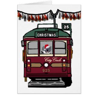 Carte Tram de Noël
