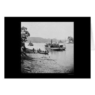 Carte Transport et moniteur sur James River 1864