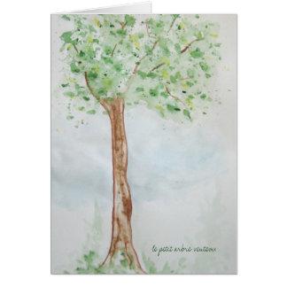 Carte Tree1, petit venteux d'arbre de le