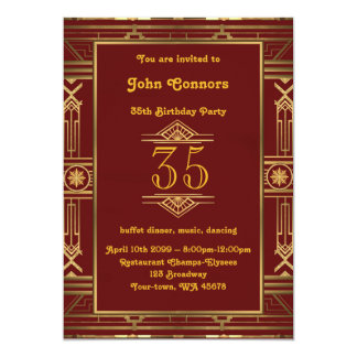 Carte trente-cinquième, homme d'invitation