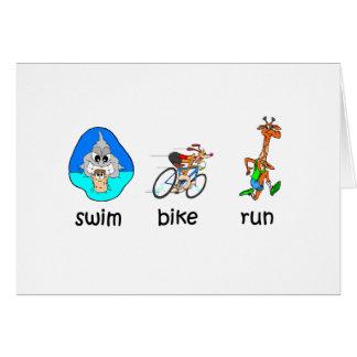 Carte Triathlon drôle