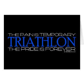 Carte Triathlon - la fierté est Forever