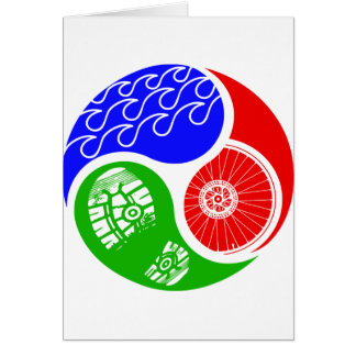 Carte Triathlon TRI Yin Yang