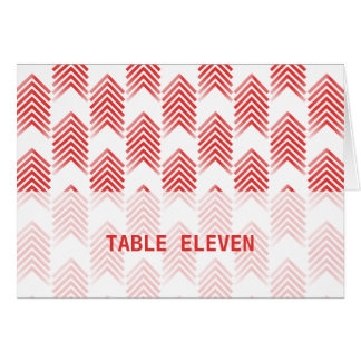 Carte tribale rouge de nombre de Tableau de