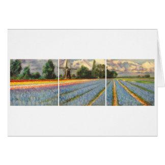 Carte Triptyque de peinture de paysage de gisements de