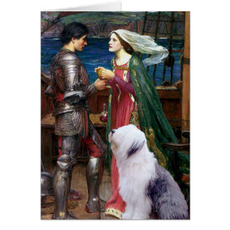 Carte Tristam et Isolde-Vieux chien de berger anglais 1