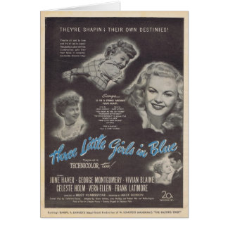 Carte Trois petites filles dans l'annonce 1946 de film